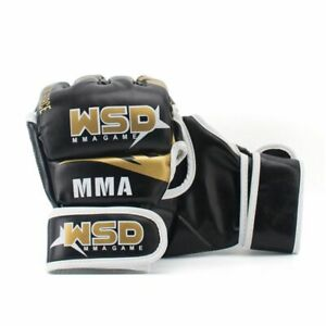 Half Finger MMA Gloves for Men PU Kicki Boxing Karate Muay Thai Guantes De Box