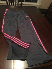 Grey And Pink Adidas Running Pants 38
