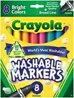 Crayola Broad Line Washable Markers - Bright Colours - 8 pack