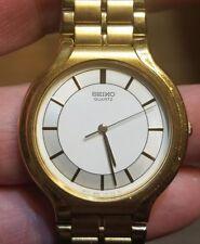 """Vintage Seiko Quartz Mens Dress Watch Excellent Condition, new battery 7"""" wrist"""