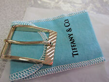 14k Gold with Pouch Make Offer Vintage Signed Tiffany & Company Belt Buckle