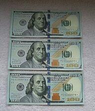 3- Consecutive $100 dollar bill *star note* Series 2017 A, rare, Crisp condition
