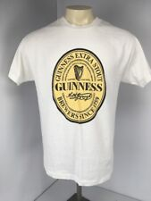 VTG 90s Guinness Extra Stout Brewers Since 1759 Classic White S/S T-shirt Sz L