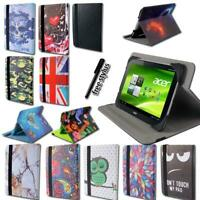 """For 7"""" 8"""" 10"""" Acer Iconia One - Smart Folio Leather Rotating Stand Cover Case"""