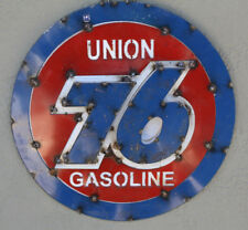 Metal UNION 76 GASOLINE Sign Gas Motor Oil Garage Man Cave Home Decor Recycled 2