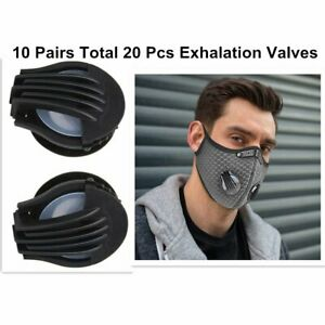 Exhalation Valve For Face Mask Replacement Black Air Breathing Valves - 20 PCS