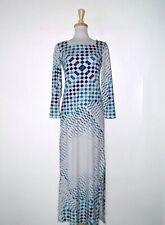 New listing Vintage 1970's Lanvin Op Print Maxi Dress S-M