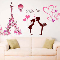 Removable Wall Stickers Home Mural Decal Decor Paris Love Vinyl Art Quote Gift