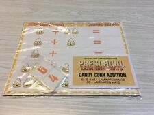 Candy Corn Addition -Set of 6 Learning Mats & 30 Cards - Laminated Activity