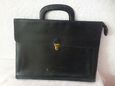 pochette porte document serviette cuir vintage