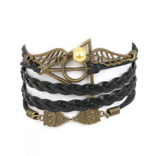 SMALL SIZE Bracelet Owl Harry Potter wings Friendship Multilayer Braided, USA