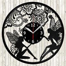 Fairy Vinyl Record Wall Clock Decor Handmade 2019