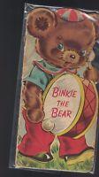 Binkie the Bear (1949) Whitman shape book  Kids Book