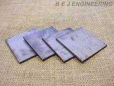 Black Steel Plate 100mm x 100mm x 5mm - Pack of 4 - Mild Steel