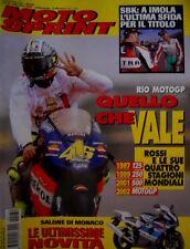 Motosprint 39 2002 Rossi e le 4 stagioni mondiali. SBK: ultima sfida al titolo
