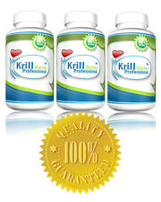 3 x BOTTLES 1200 MG Antarctic Krill Oil Professional Formula