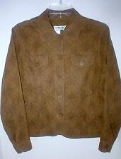 """Coldwater Creek lt olive-tan textured design linen-cotton jacket  PM 42"""" EC"""