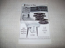United 5 Way Shuffle Alley & Classic Deluxe Bowing Alley Game Sales Flyer 1961