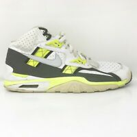 Nike Mens Air Trainer SC High 302346-118 White Volt Running Shoes Size 11.5