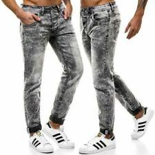 Jeans gris coton pour homme
