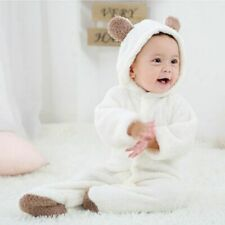 Newborn Baby Infant Boy Girl Romper Hooded Jumpsuit Body Suit Outfits Clothes CA