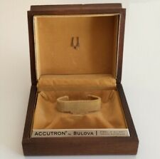 Scatola Accutron Bulova Vintage Watch Box Brown 15 cm