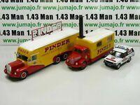LOT 3 CAMIONS 1/43 CIRQUE PINDER IXO : BERNARD + UNIC ZU51 + Range Rover