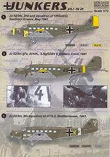 Print Scale Decals 1/72 JUNKERS Ju-52 German WWII Transport