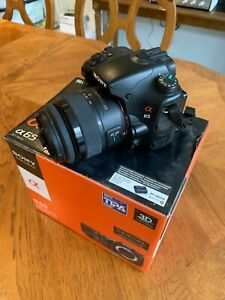 Sony Alpha SLT-A65V 24.3MP Digital SLR Camera - Black with original18-55mm lens