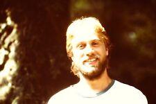 Handsome Young Man Beard Vintage 1980's 35mm Slide B32 b