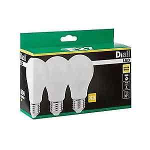 Diall E27 9W 806lm LED Light bulb, Pack of 3