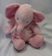 PRESTIGE STUFFED PLUSH PINK ELEPHANT PRESS TO RECORD LISTEN RECORDABLE BABY TOY
