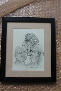 Peter Howson Pencil sketch framed