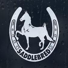 Saddlebred cheval fer à cheval Voiture Autocollant Vinyle Autocollant Pour Pare-chocs Fenêtre ou