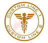 CUSTOM Medical Medic Emblem Starfleet Vinyl Decal Window Sticker Car
