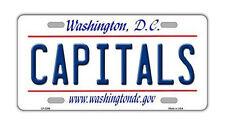 Metal Vanity License Plate Tag Cover - Washington Capitals - Hockey Team