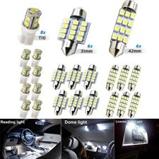 20pcs Led Interior Lights Bulbs Kit Car Trunk Dome License Plate Lamps 6000k