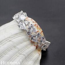 "Hermosa® NEW 925 Sterling Silver White Topaz Wedding Party Prom Bracelets 7"""