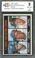 Frank Robinson / Oliva / Al Kaline Card 1967 Topps #239 Leaders BGS BCCG 9