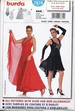 BURDA SEWING PATTERN 7879 MISSES SZ 10-20 BALLROOM DANCE DRESS LEOTARD, COSTUME