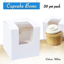 Cupcake Boxes White 30 x Single Boxes - Party Favour Box Wedding Bomboniere