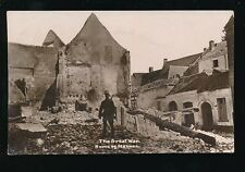 Military WW1 France MALINES Ruins The Great War 1915 RP PPC