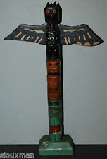 NW Coast wood carved Totem, made by Coqualeetza Indian School, Sardis, B.C.