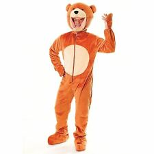 Adult Teddy Bear Big Head Costume Adult Mascot Fancy Dress Outfit