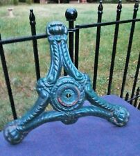 Vintage Antique Green Cast Iron Gumball Machine Tri-footed Clawfoot Stand Base