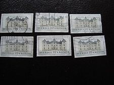 SUEDE - timbre yvert et tellier n° 1666 x6 obl (A29) stamp sweden (I)