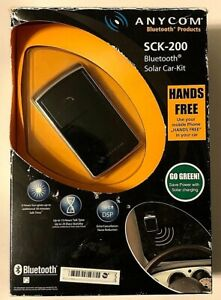 ANYCOM SCK-200 Bluetooth Solar Car Kit Hands Free Echo Cancellation Noise Reduce