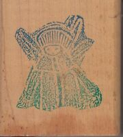 """angel acme ferrell Wood Mounted Rubber Stamp 2 1/2 x 2""""  Free Shipping"""