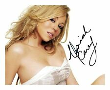 MARIAH CAREY SIGNED AUTOGRAPHED A4 PP PHOTO POSTER D