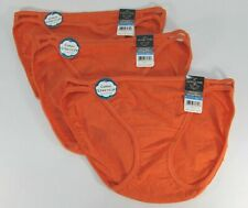 VANITY FAIR ILLUMINATION 3 STRING BIKINI/PANTIES-COTTON-5 SMALL - ORANGE - NWT